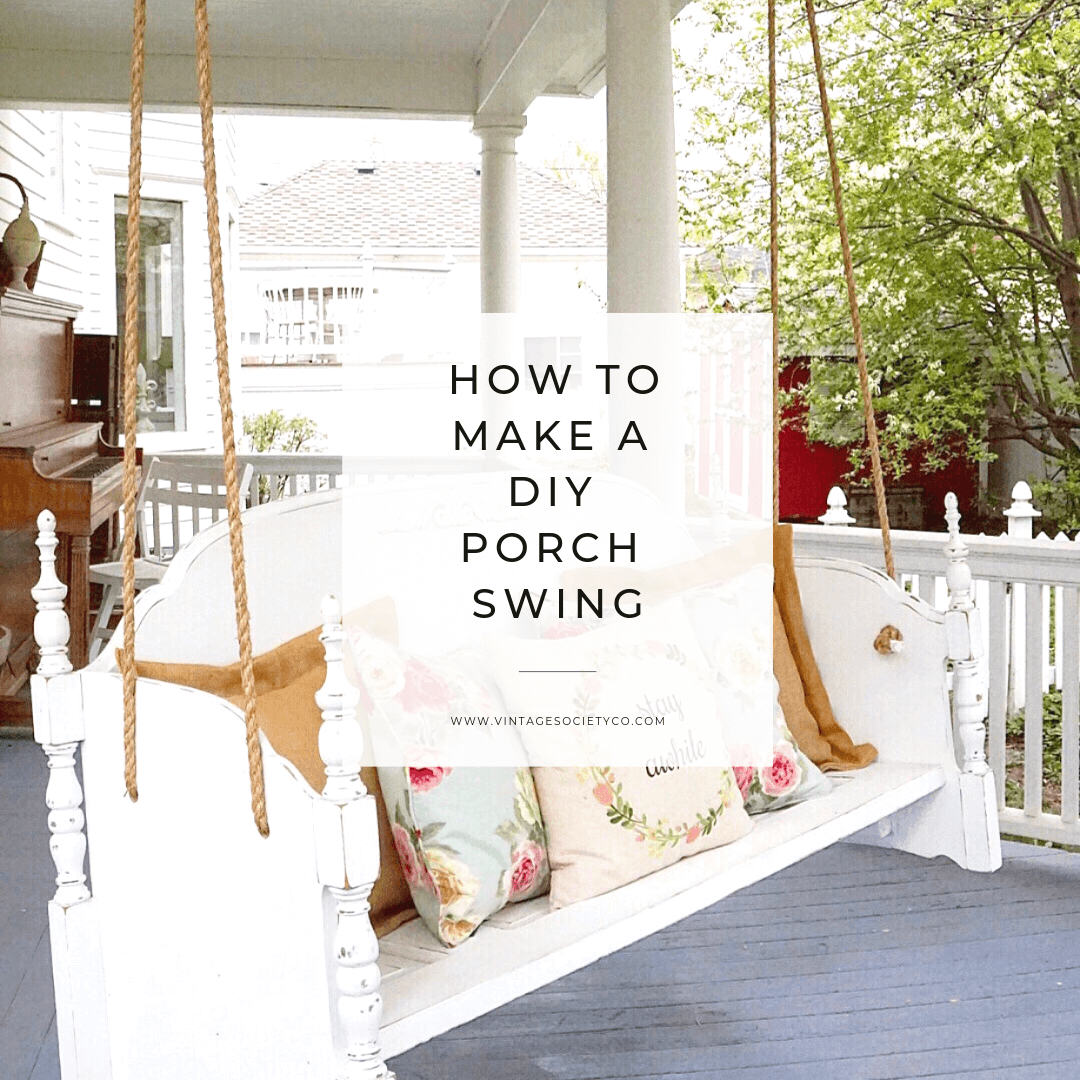 How to Make a DIY Porch Swing
