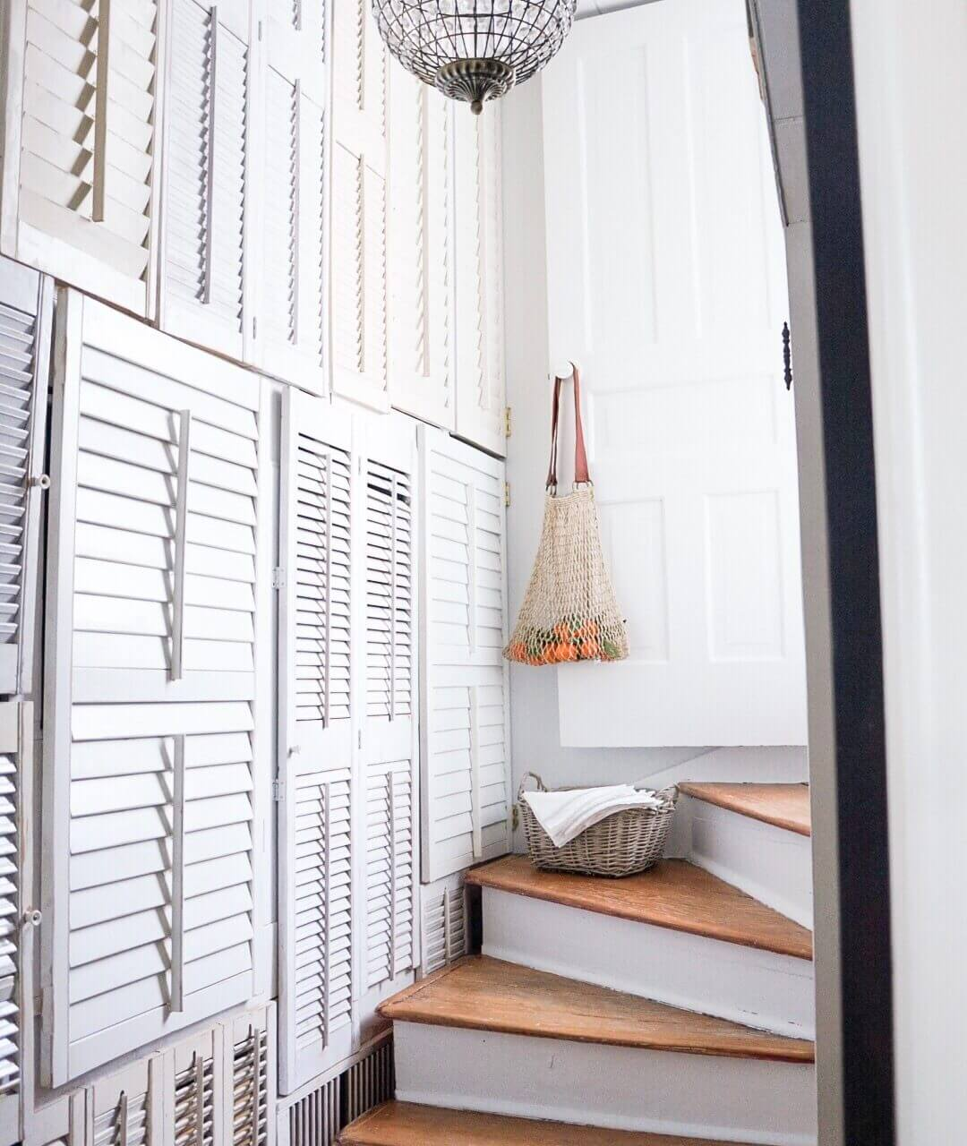 DIY White and Wood Staircase Reveal
