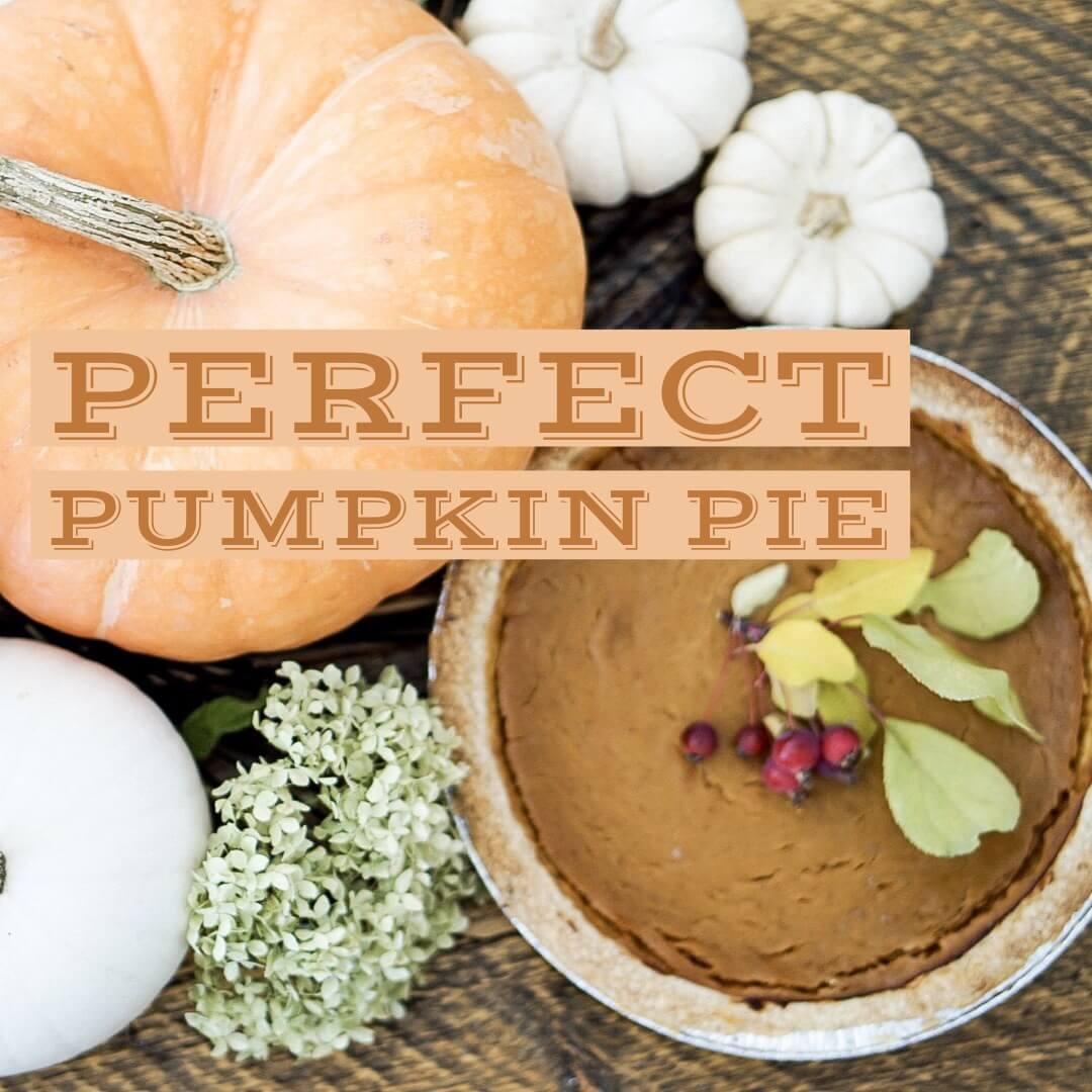 Perfect Pumpkin Pie