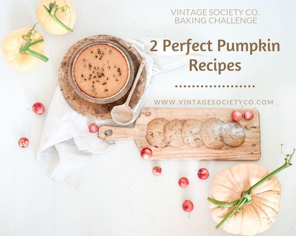 2 Perfect Pumpkin Recipes: Pie and Cookies