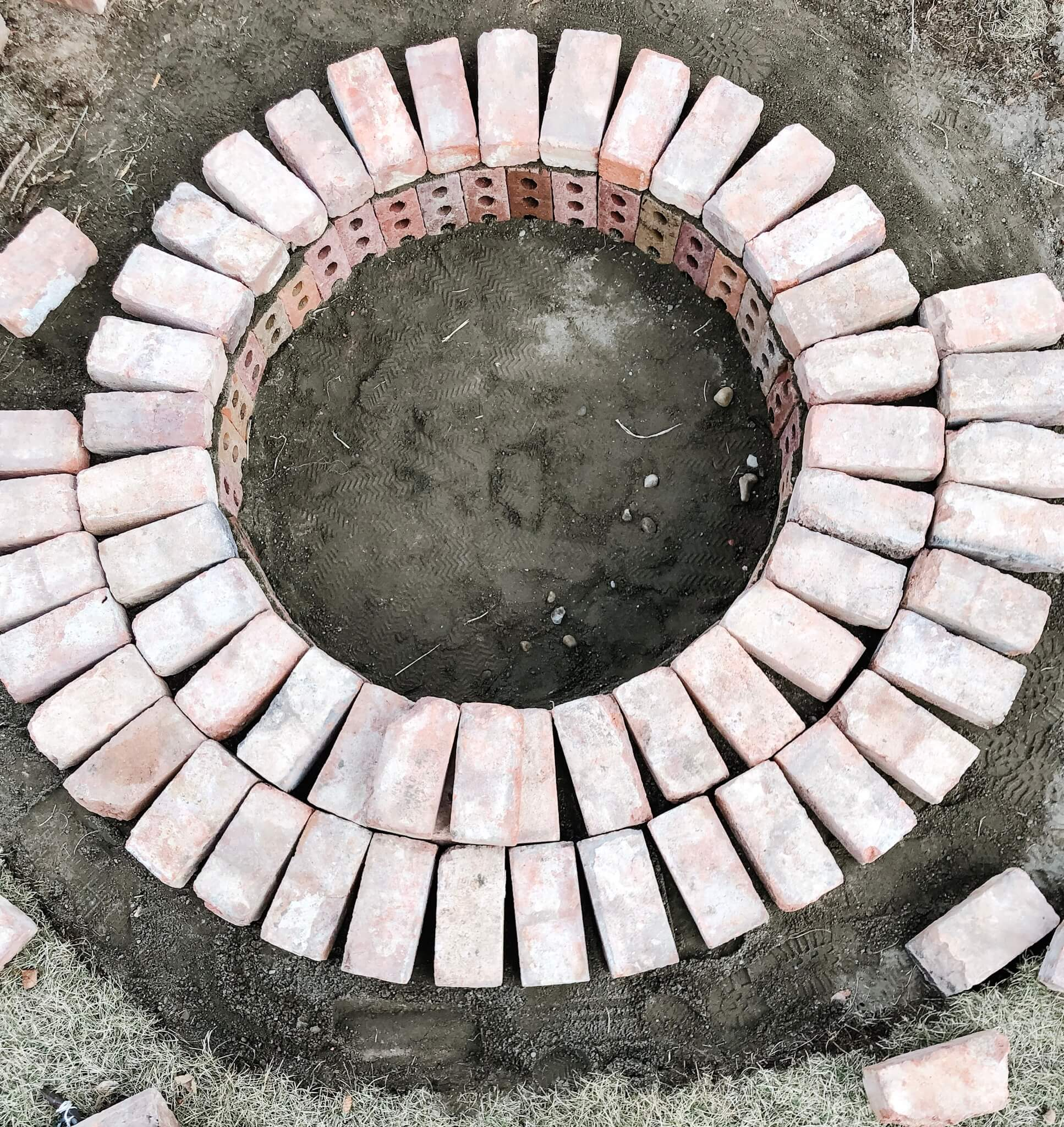 Creating Shape for an easy DIY Fire Pit