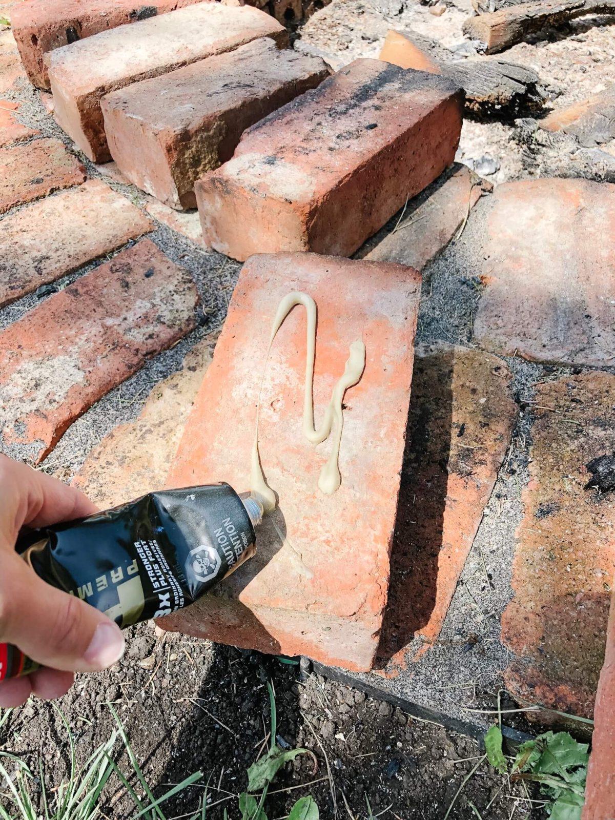 Glueing down Bricks
