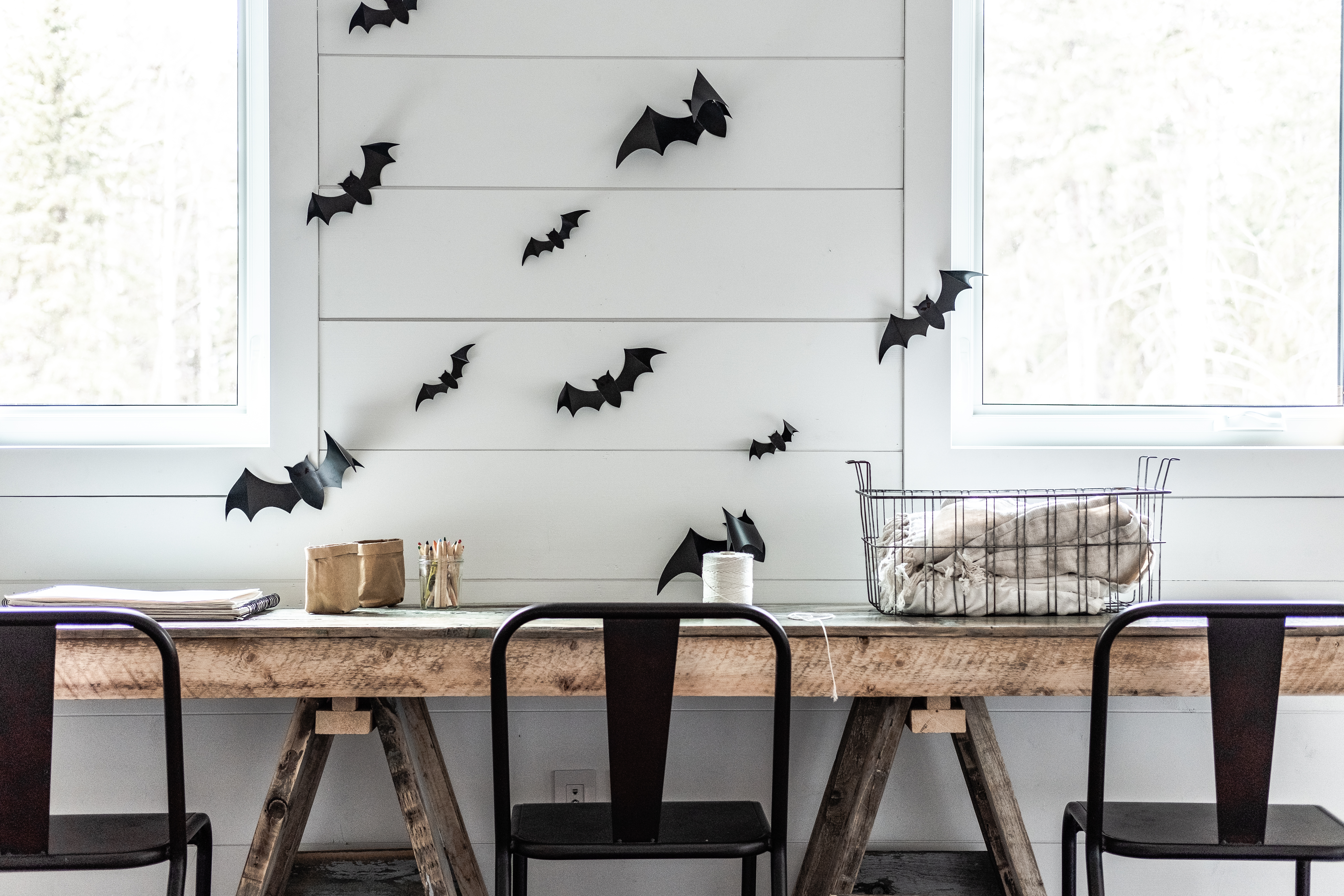 Cut out bats for Halloween