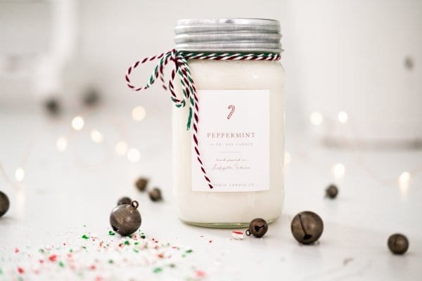 Peppermint Antique Candle