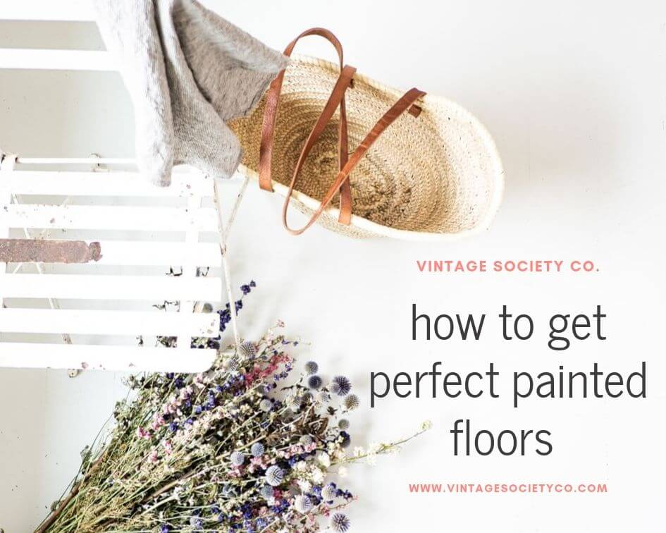 How to get Perfect Painted Floors