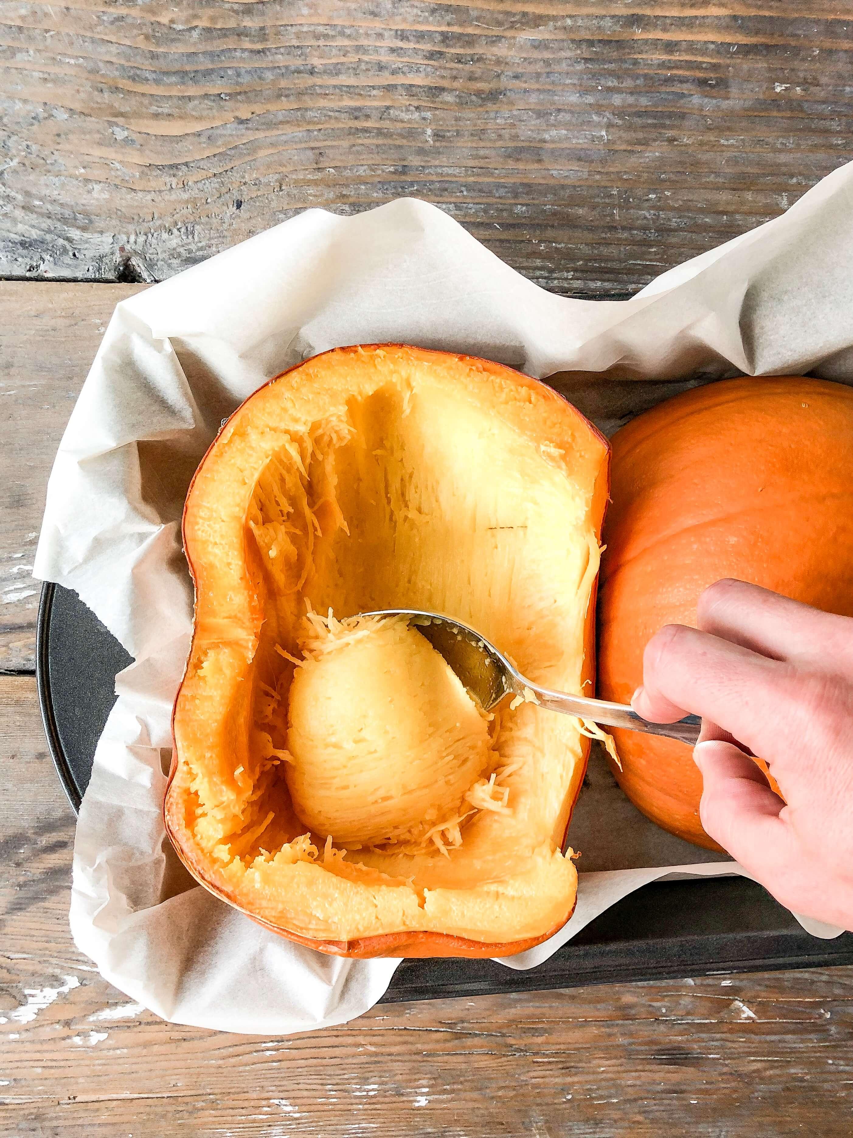 Puree from a pumpkin