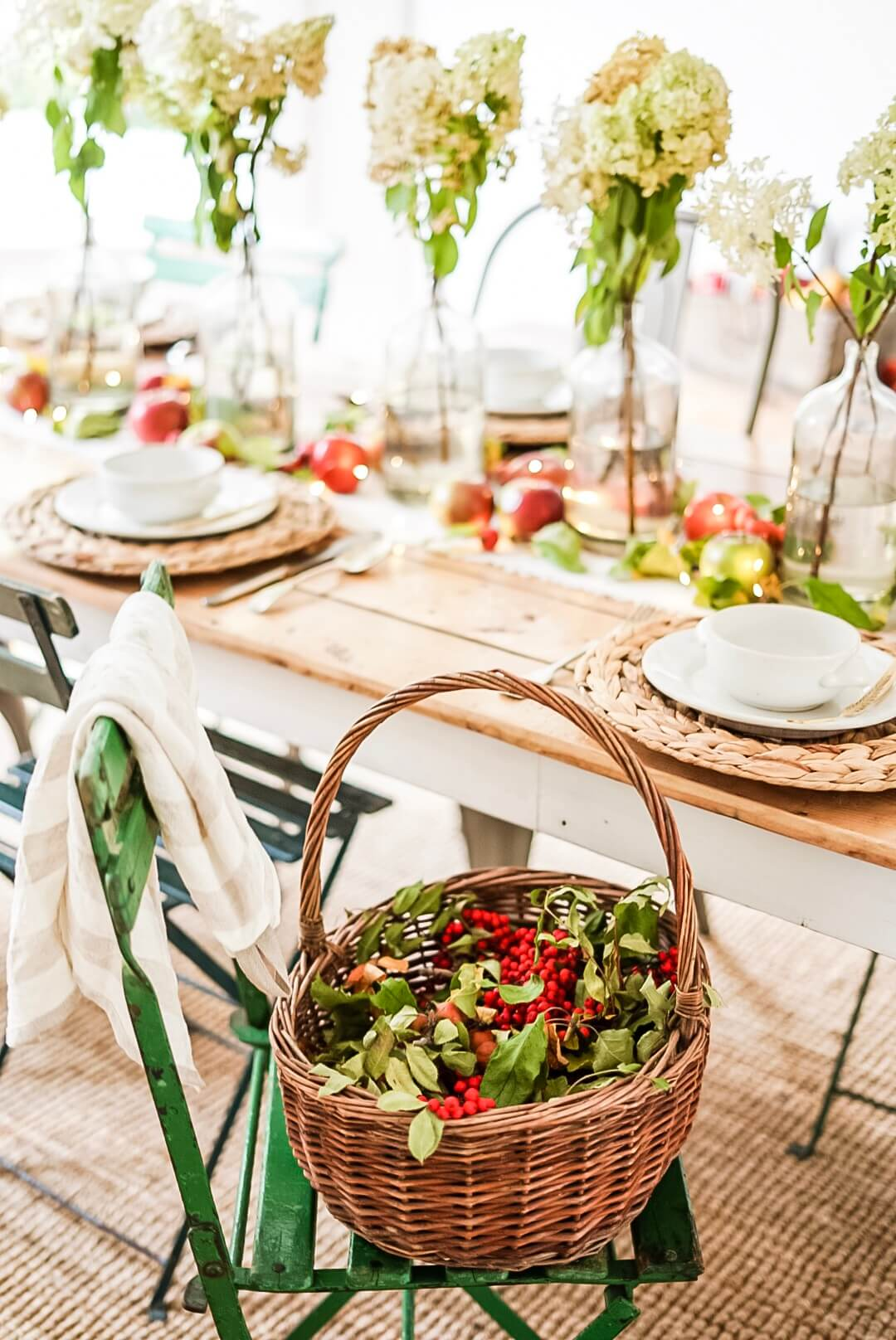 Table Centrepieces basket of berries