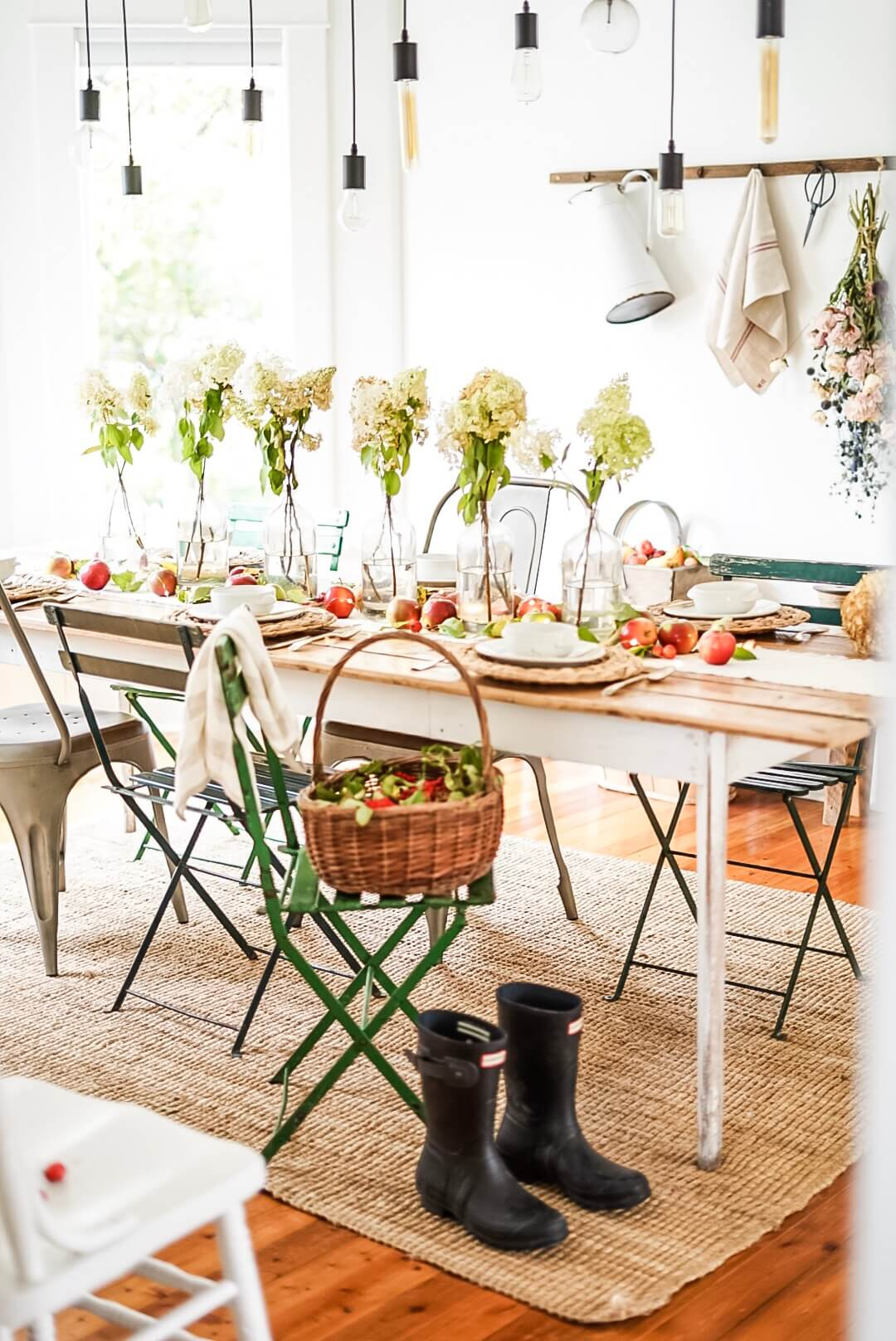 Table Centrepieces dining room boots