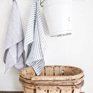Blue Ticking Towel
