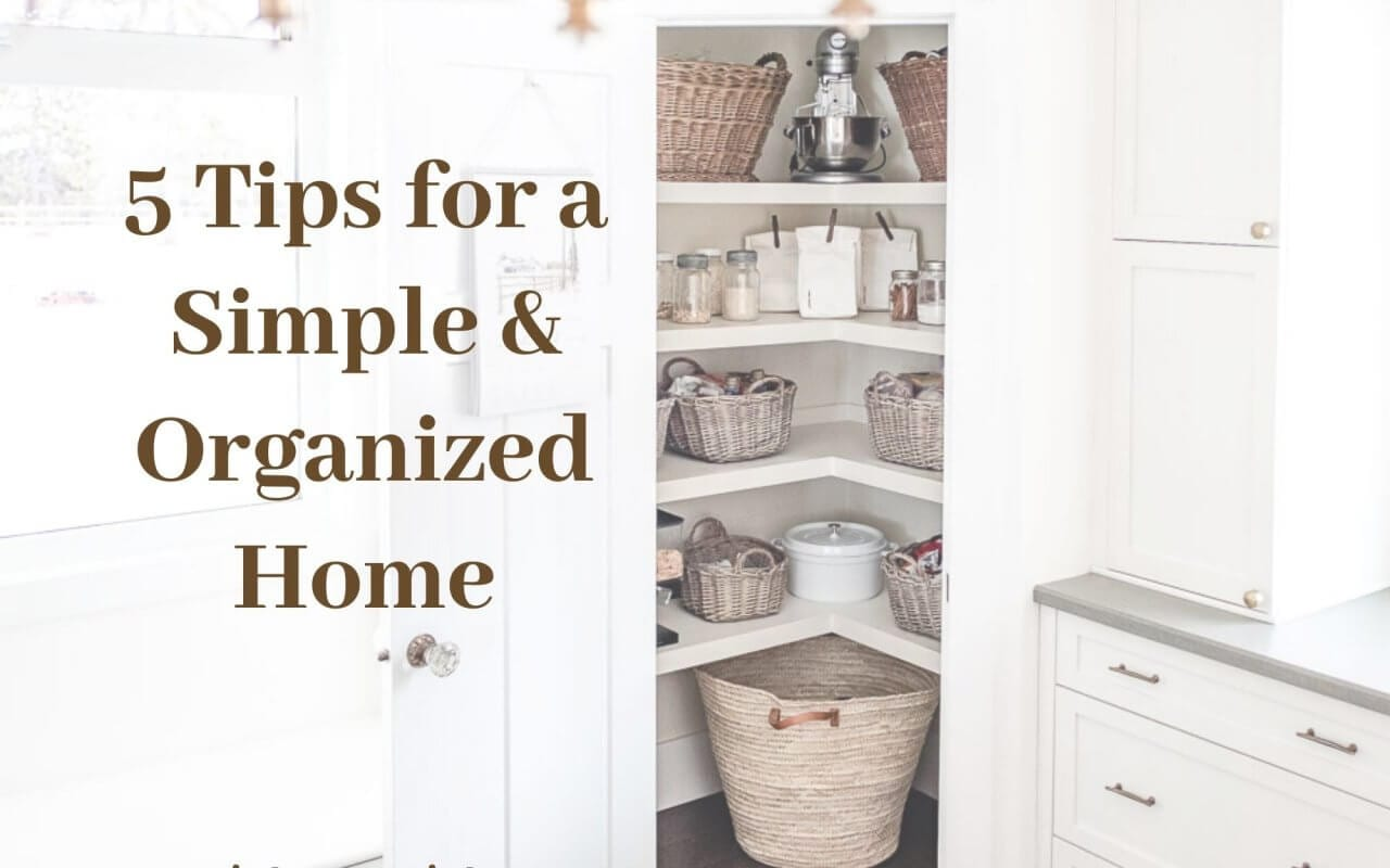 5 tips for a simple home