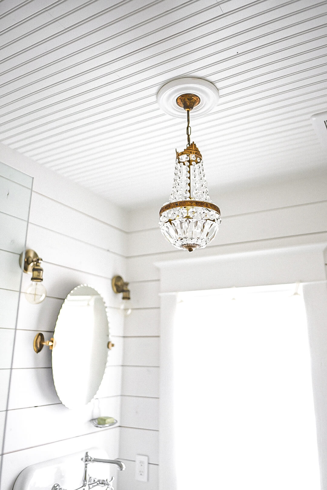 Bathroom french antique chandelier