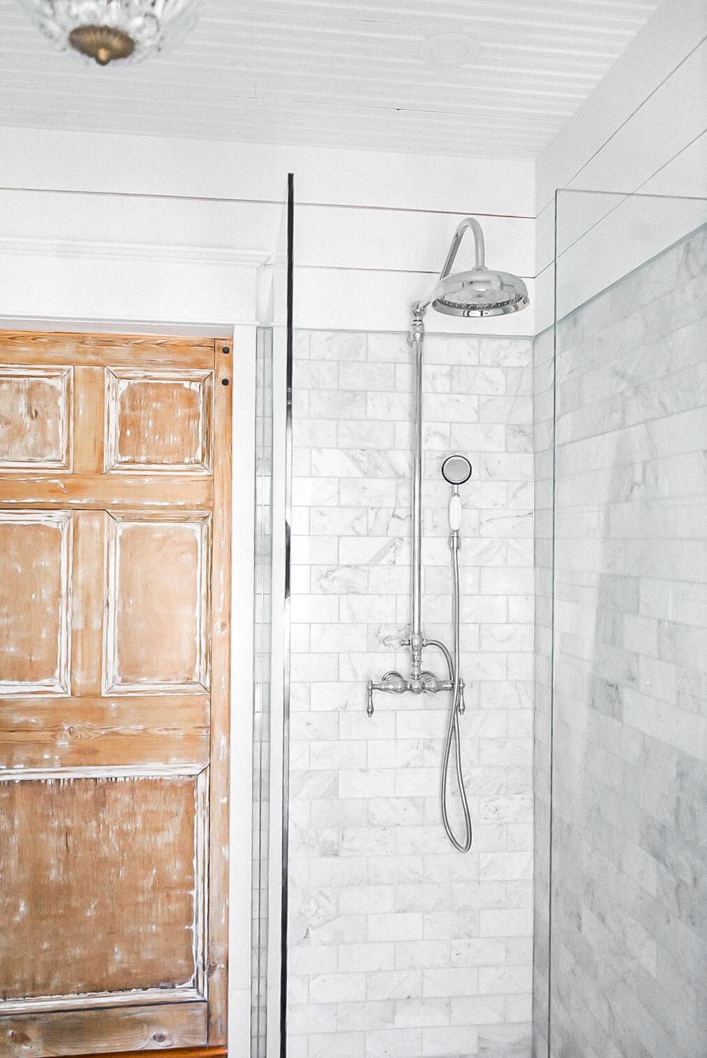 Bathroom polished chrome shower faucet