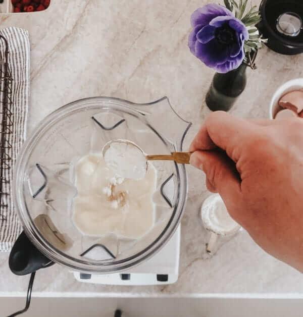 Adding Flour to Crepes