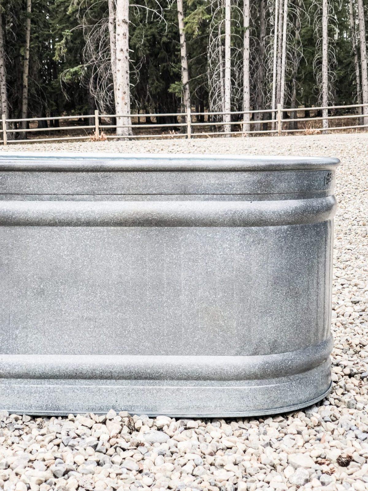 DIY Aged galvanized metal water tank
