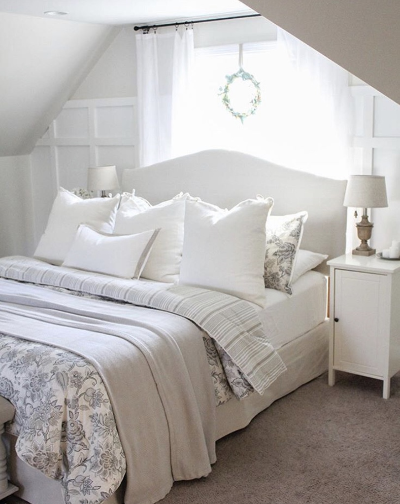 English cottage master bedroom by pine and prospect home