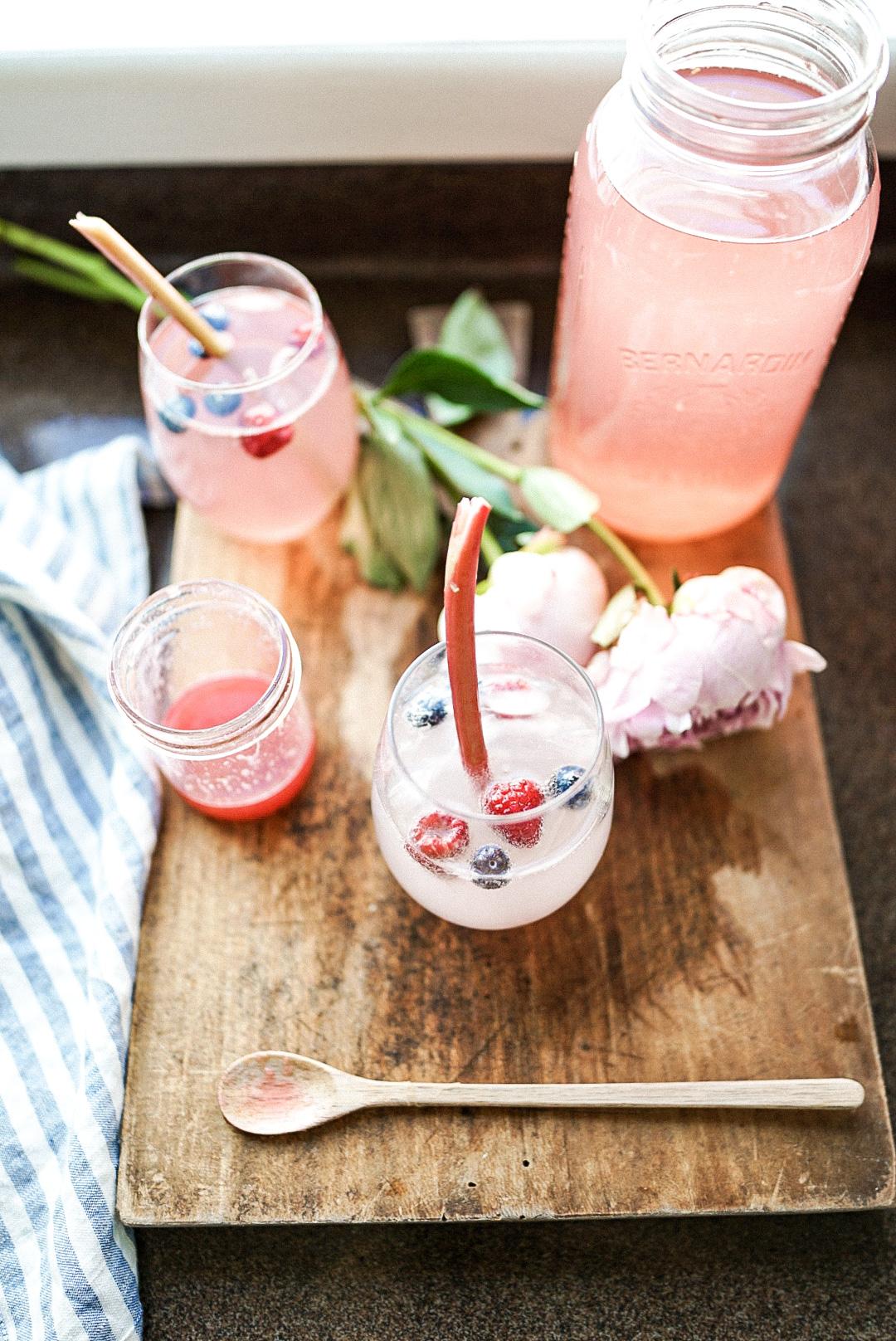 rhubarb 2 ways rhubarb syrup and juice