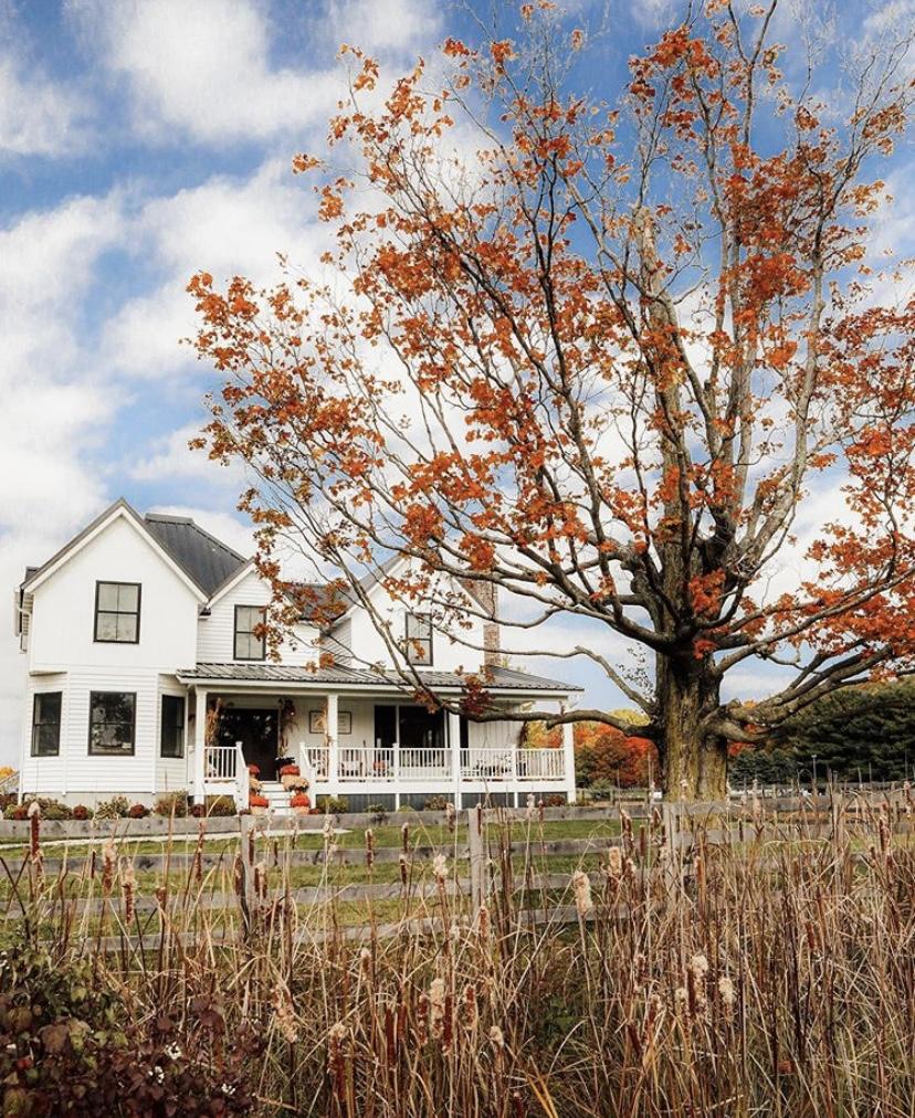 Sugar Maple Farmhouse exterior view fall