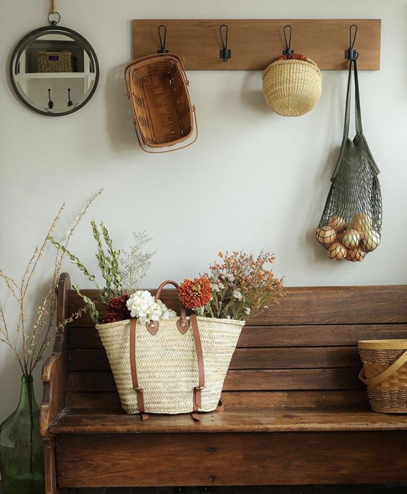 Sugar Maple Farmhouse market basket decor